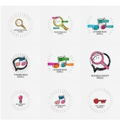 set of hand drawn design elements in vector image vector image