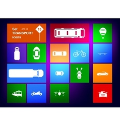 Set of transport icons navigator vector image vector image