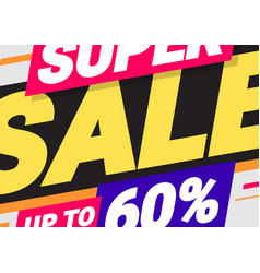 Abstract background on theme super sale vector