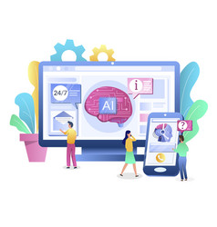ai chatbot consultant concept flat style vector image