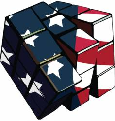 American cube vector image