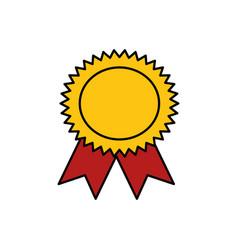 Award ribbon symbol vector