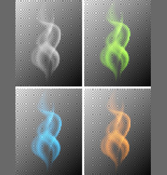background template with colorful smokes vector image