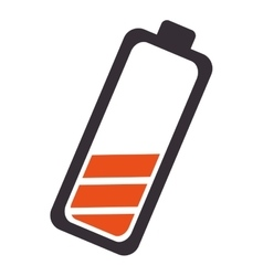 battery low level isolated icon vector image