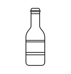 beer bottle drink celebration isolated vector image