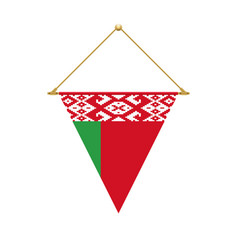 belarus triangle flag hanging vector image