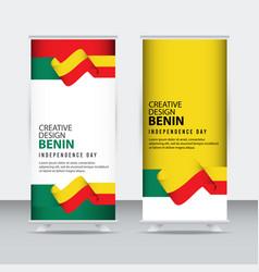 Benin independence day celebration creative vector
