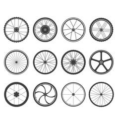 Bicycle wheels set vector