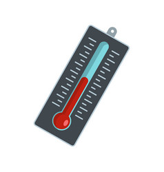 big thermometer icon flat style vector image