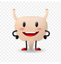 bladder realistic human organ happy character vector image