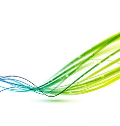 Bright green abstract speed lines background vector