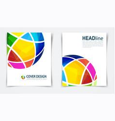 Brochure or design template flyer vector