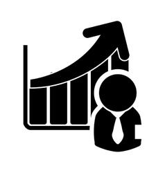 Businessman pictogram business design vector