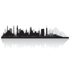 Cairo Egypt city skyline silhouette vector image
