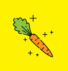 carrot vegetable icon vector image