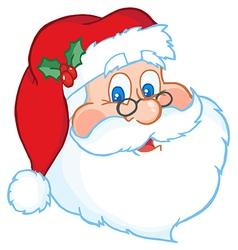 Classic Santa Claus Head vector