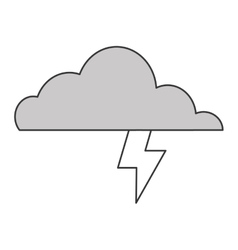 Cloud witn lightning ray icon vector