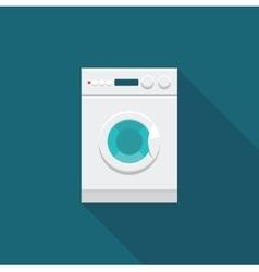Color icon washing machine vector image