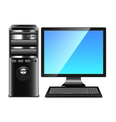 Contemporary computer isolated on white vector