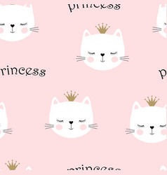 cute princess pattern vector image