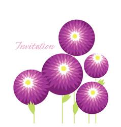 Decorative chrysanthemum flowers design element vector
