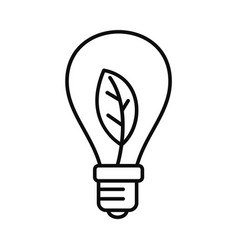 eco save bulb icon outline style vector image