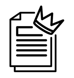 Engaging papers icon outline style vector