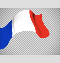 france flag on transparent background vector image