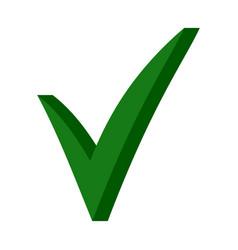 green 3d checkmark ok sign checkmark sign vector image