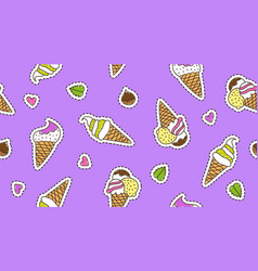 Ice cream cones vector