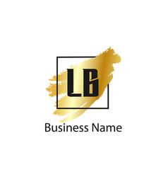 Initial letter lb logo template design vector