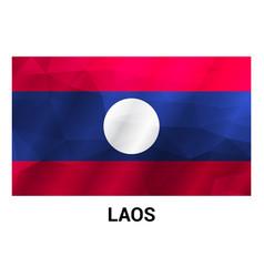 Laos flags design vector