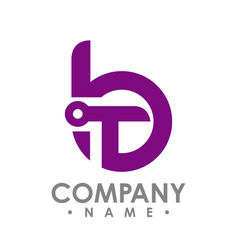 Letter b and t icon technology smart logo vector