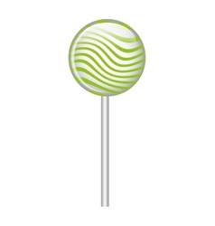 Lollipop candy sweet isolated icon vector