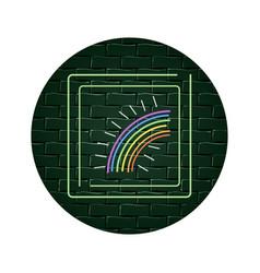 magic rainbow cartoon vector image