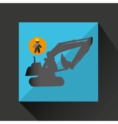 man construction excavator design graphic vector image