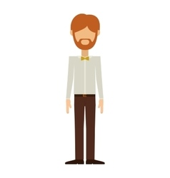 Man in formal suit with beard without face vector