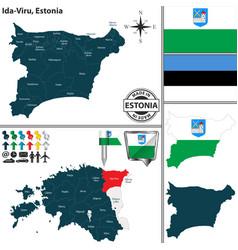 map of ida viru estonia vector image