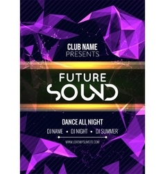 Modern future sound party template dance party vector