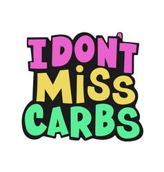 no carbs healthy lifestyle nutrition problem vector image