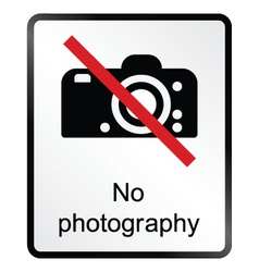 No Photography Information Sign vector
