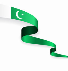 pakistani flag wavy abstract background vector image