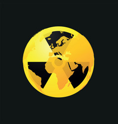 radioactive planet earth icon vector image