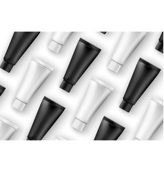 Realistic cosmetics creme tubes on table vector