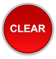 Red clear button vector