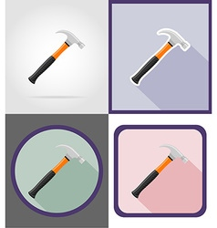 repair tools flat icons 11 vector image