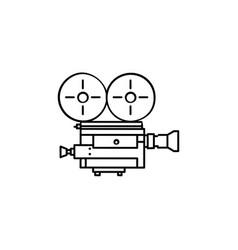 retro video camera hand drawn outline doodle icon vector image
