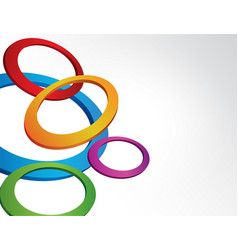 rings background vector image