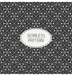 seamless retro vintage hipster line pattern vector image
