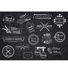 Set hand made labels badges and logos vector